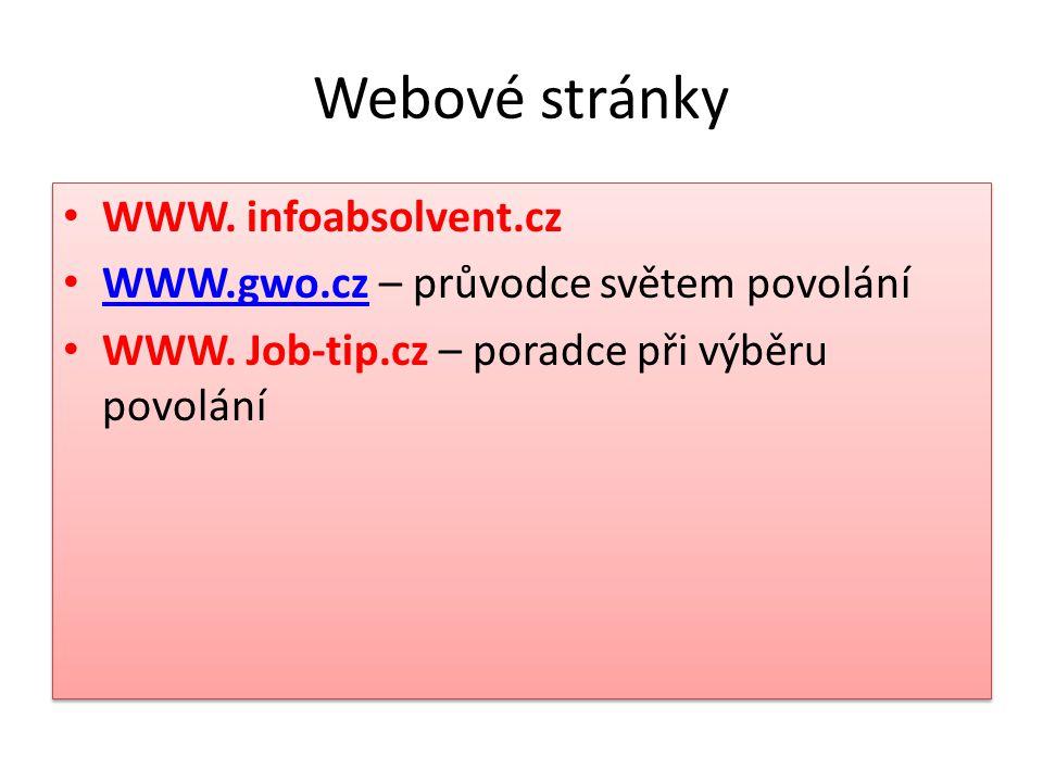 Webové stránky WWW. infoabsolvent.cz