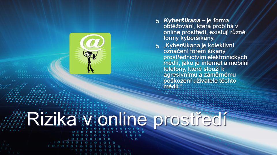 Rizika v online prostředí