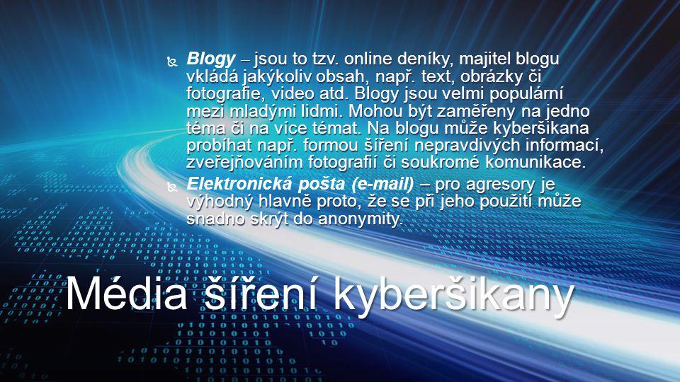 Média šíření kyberšikany
