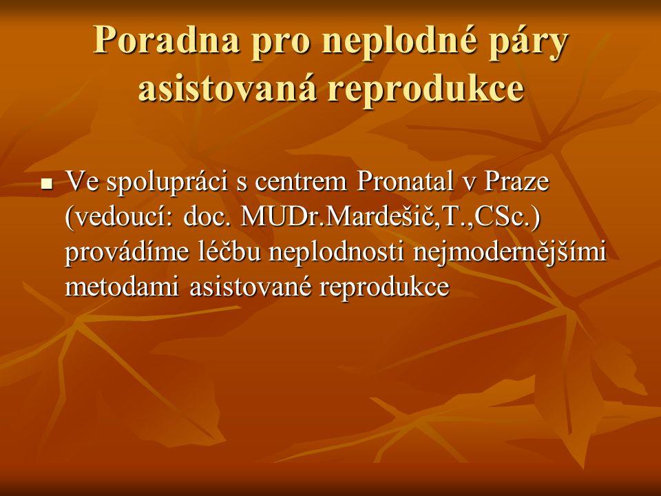Poradna pro neplodné páry asistovaná reprodukce