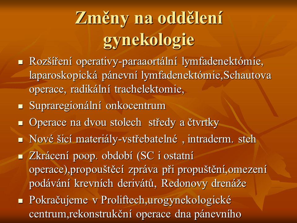 Změny na oddělení gynekologie