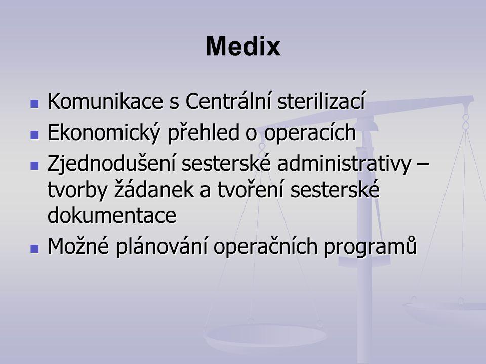 Medix Komunikace s Centrální sterilizací