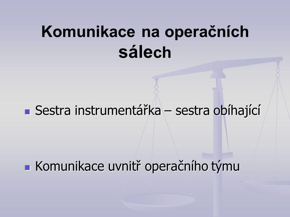 Komunikace na operačních sálech