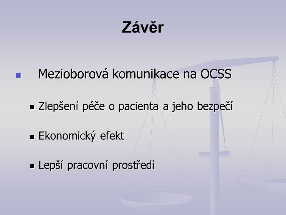 Závěr Mezioborová komunikace na OCSS