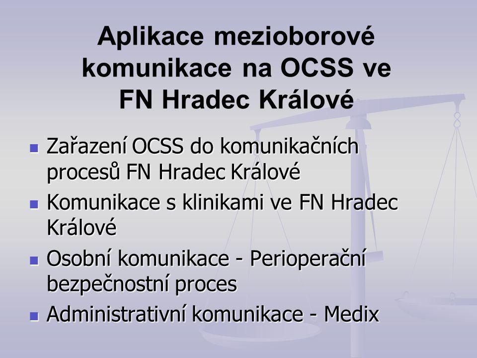Aplikace mezioborové komunikace na OCSS ve FN Hradec Králové