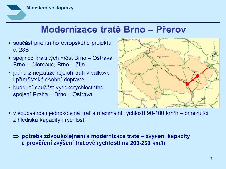 Modernizace tratě Brno – Přerov