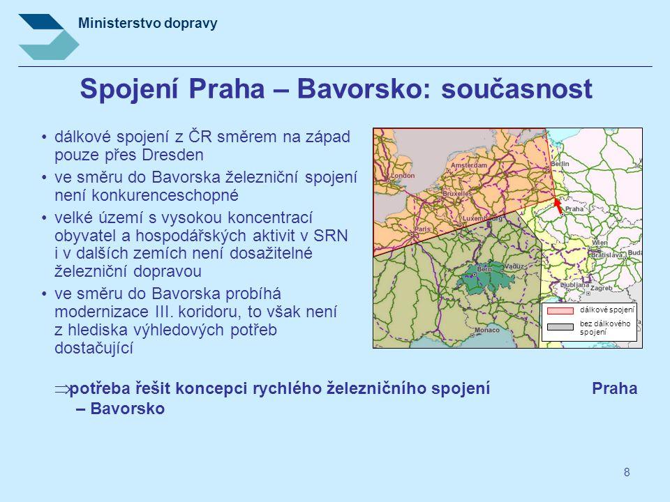 Spojení Praha – Bavorsko: současnost