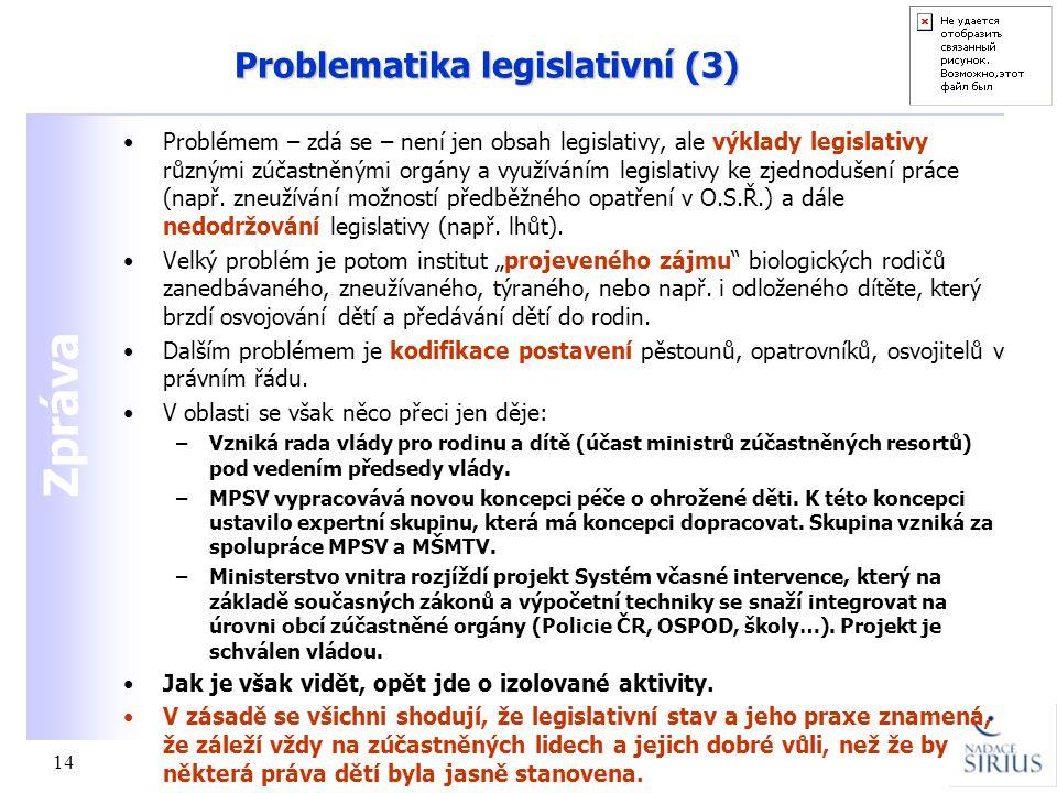 Problematika legislativní (3)