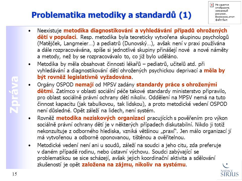 Problematika metodiky a standardů (1)