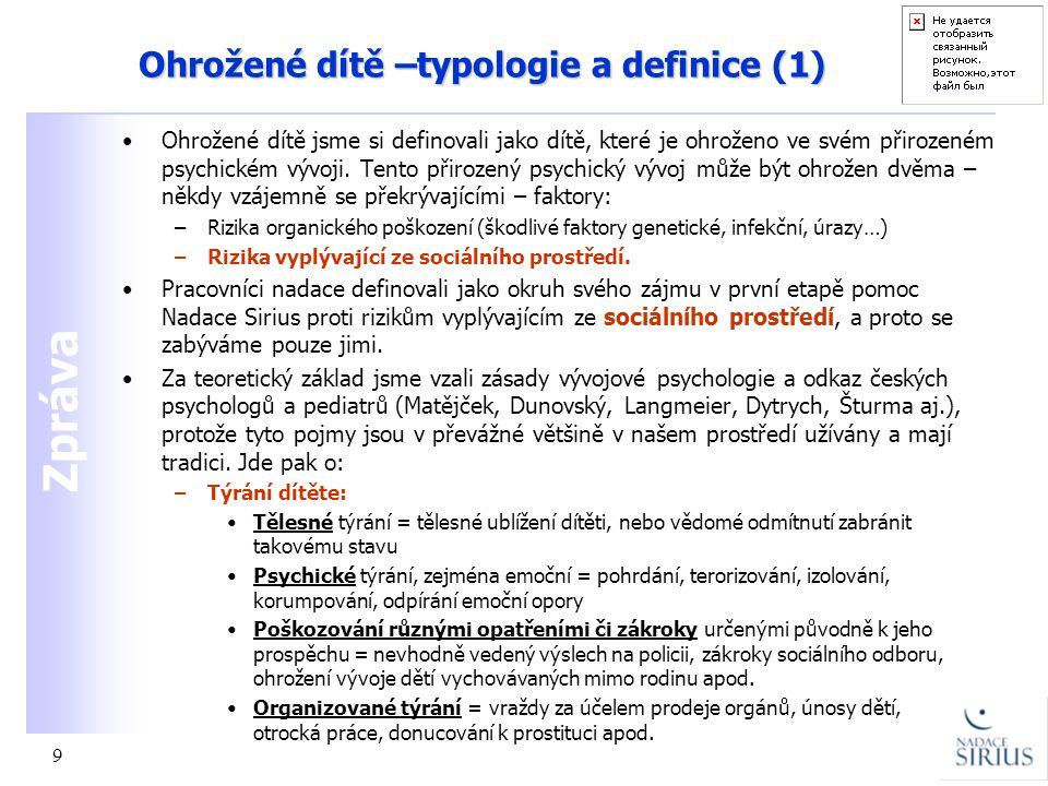Ohrožené dítě –typologie a definice (1)
