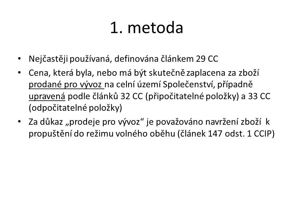 1. metoda Nejčastěji používaná, definována článkem 29 CC