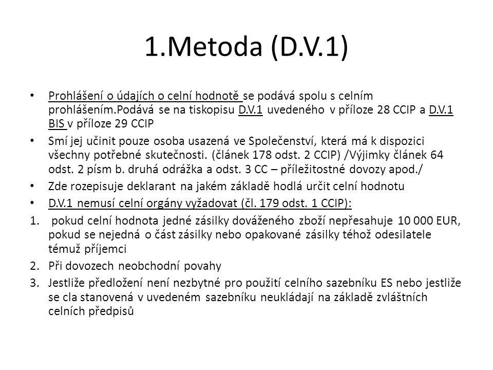 1.Metoda (D.V.1)