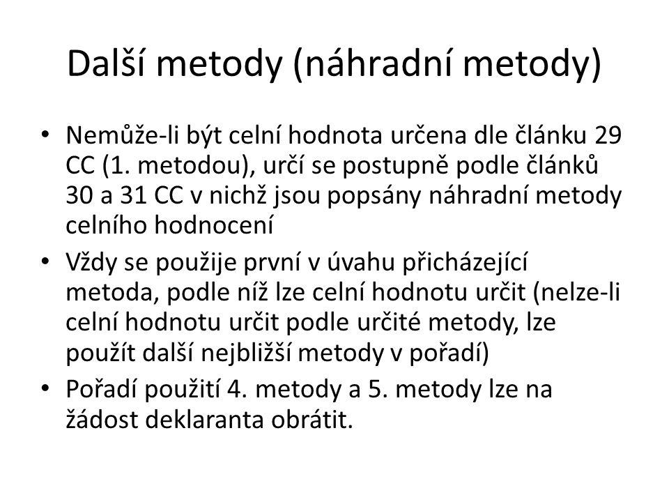 Další metody (náhradní metody)