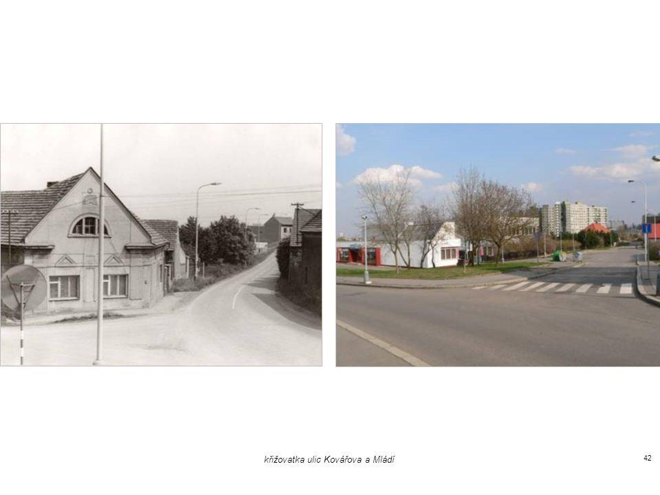 křižovatka ulic Kovářova a Mládí