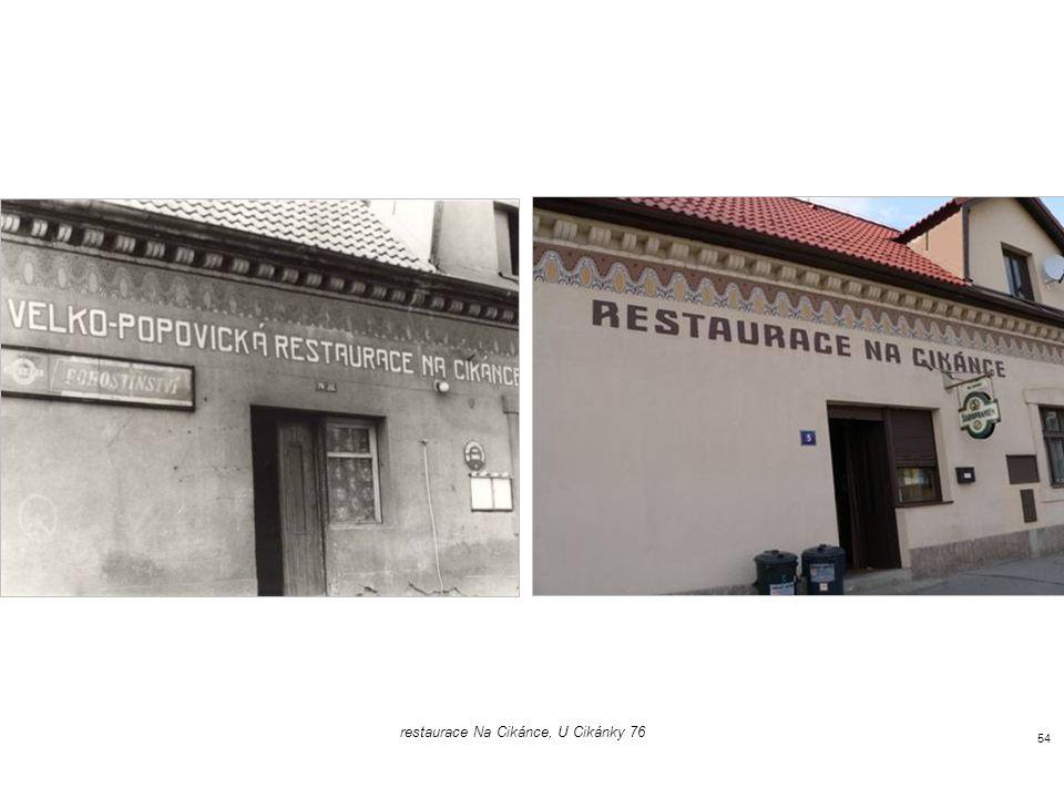 restaurace Na Cikánce, U Cikánky 76