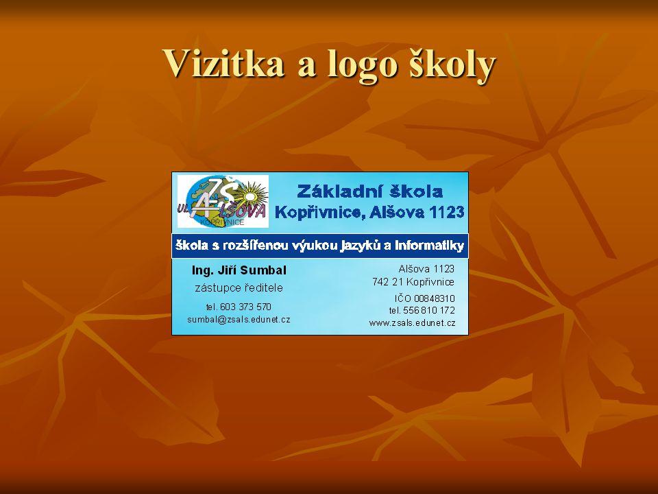 Vizitka a logo školy