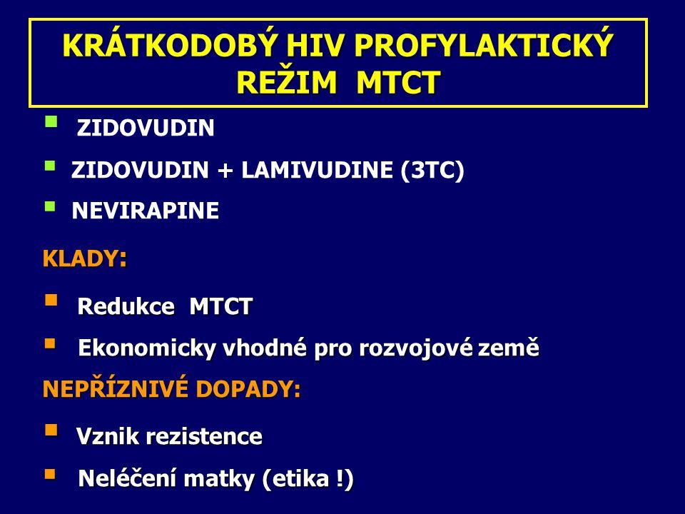 KRÁTKODOBÝ HIV PROFYLAKTICKÝ REŽIM MTCT