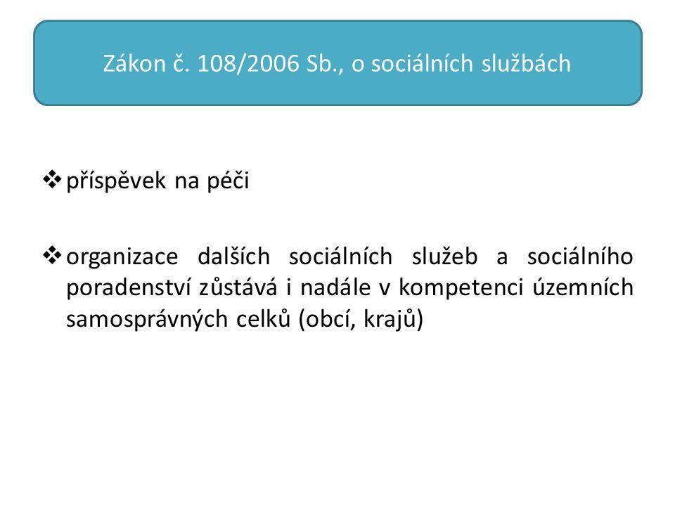 Zákon č. 108/2006 Sb., o sociálních službách