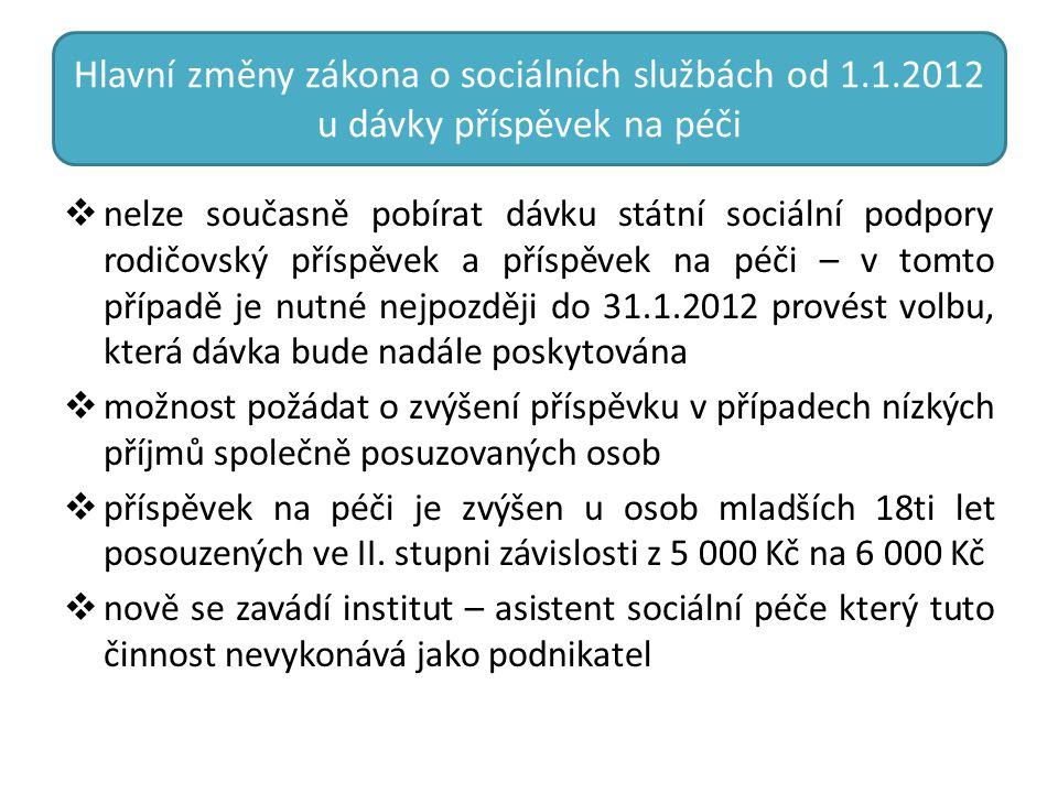Hlavní změny zákona o sociálních službách od 1. 1