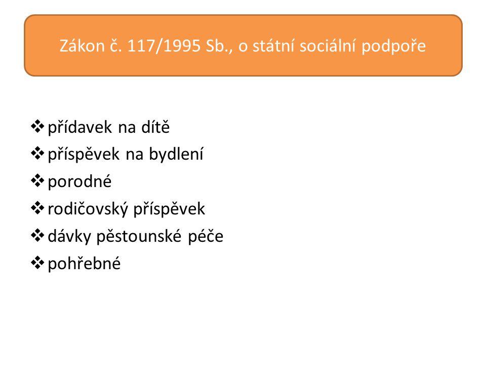 Zákon č. 117/1995 Sb., o státní sociální podpoře