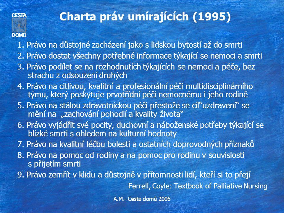 Charta práv umírajících (1995)