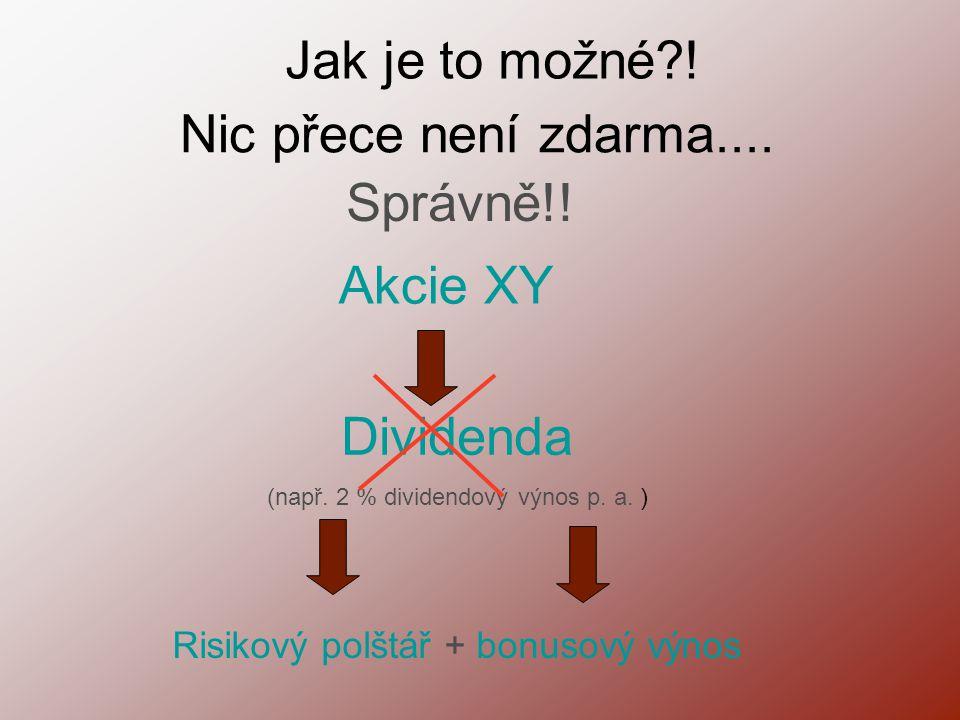(např. 2 % dividendový výnos p. a. )