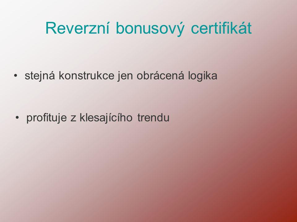 Reverzní bonusový certifikát