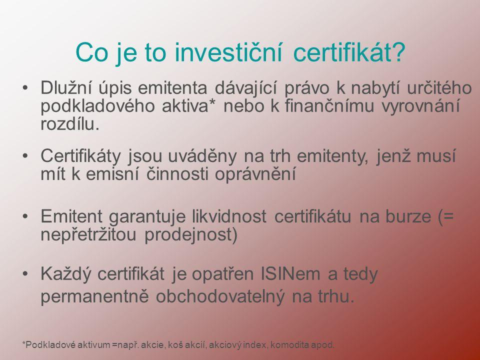 Co je to investiční certifikát