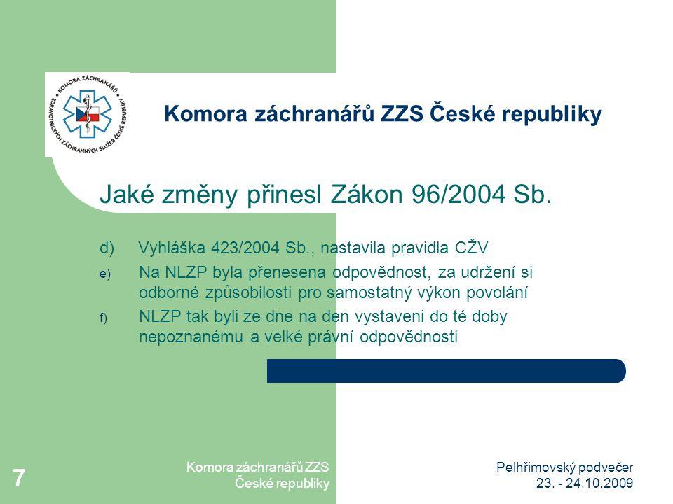 Komora záchranářů ZZS České republiky