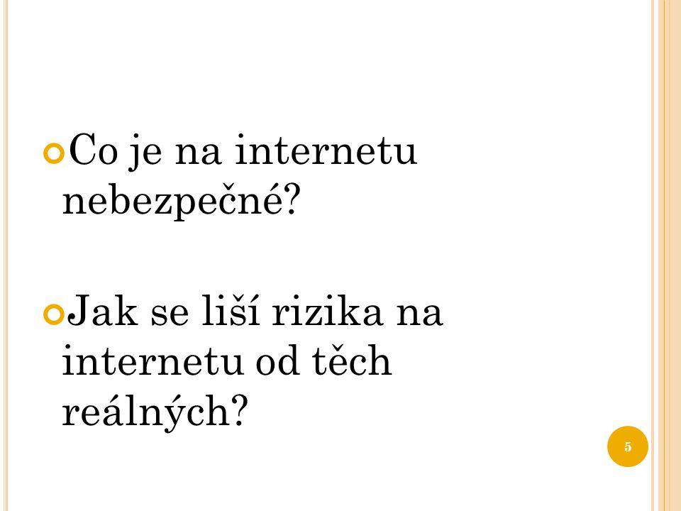Co je na internetu nebezpečné