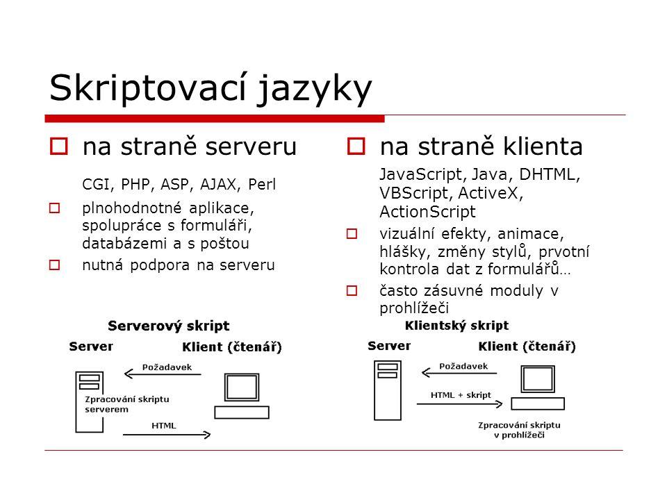 Skriptovací jazyky na straně serveru CGI, PHP, ASP, AJAX, Perl