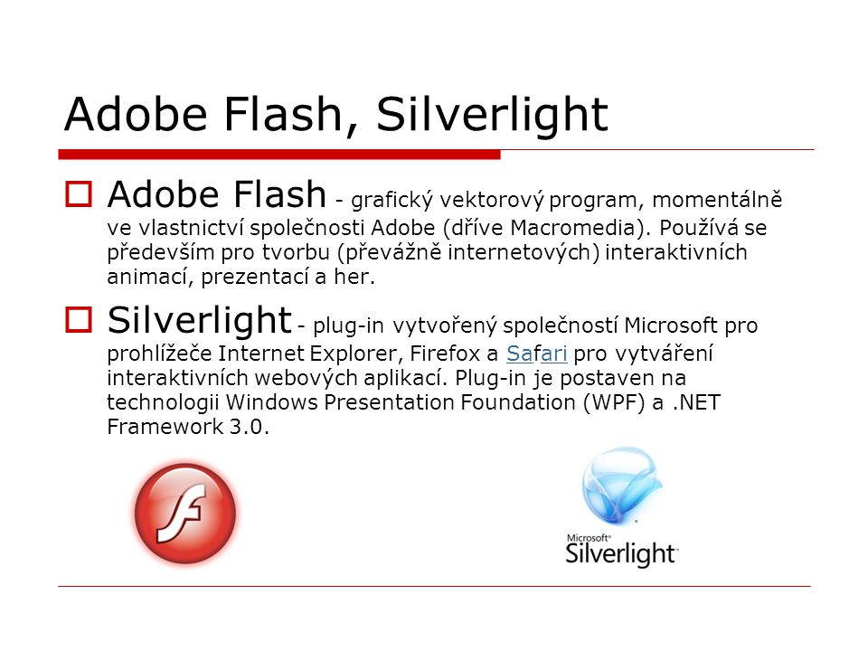 Adobe Flash, Silverlight