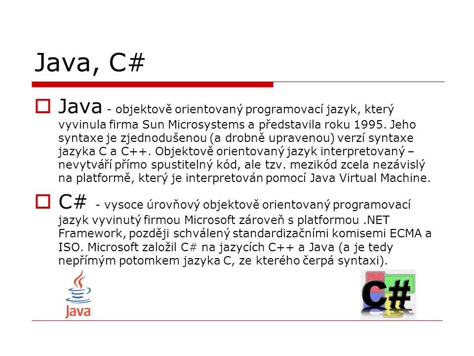 Java, C#