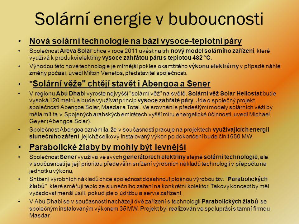 Solární energie v buboucnosti