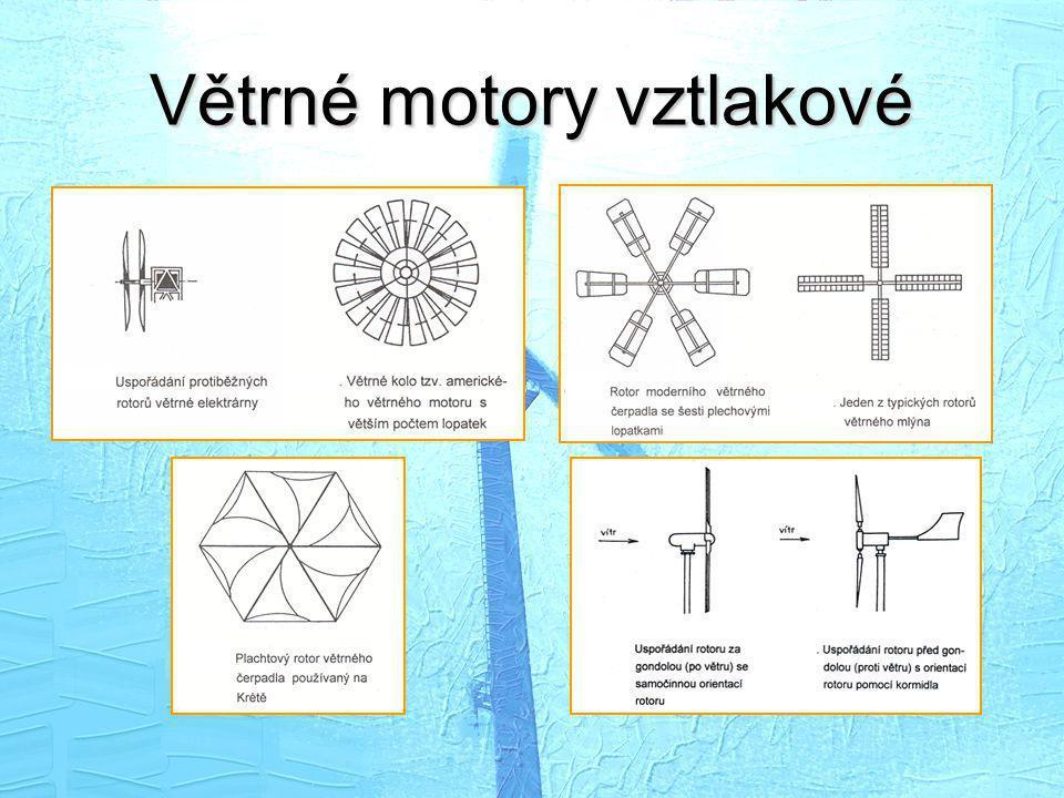 Větrné motory vztlakové
