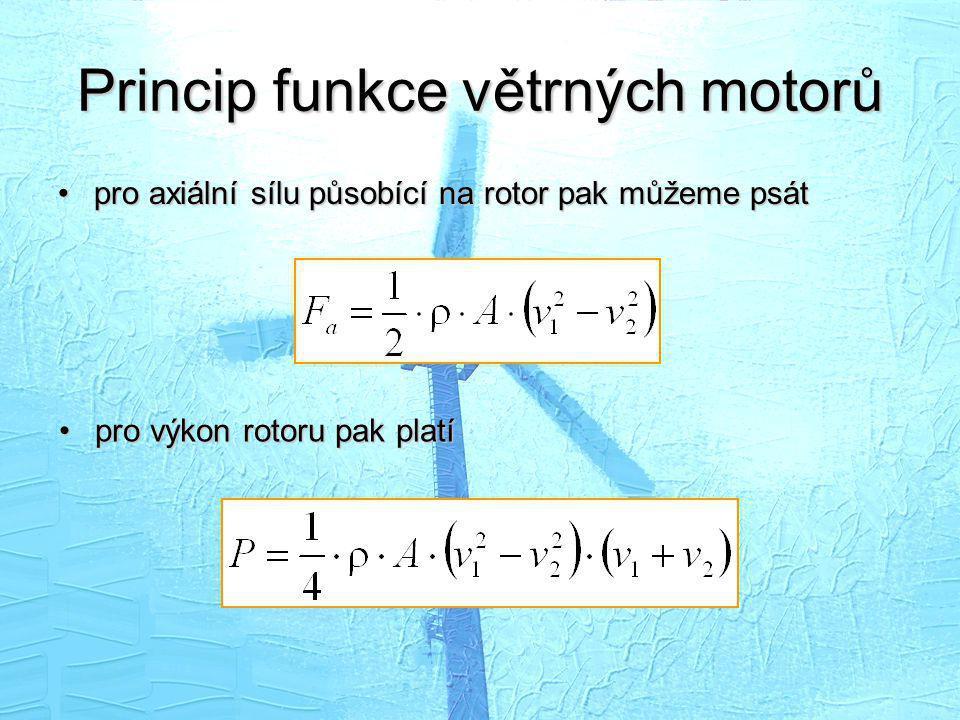 Princip funkce větrných motorů