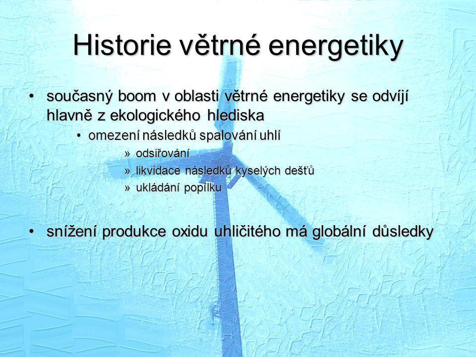 Historie větrné energetiky