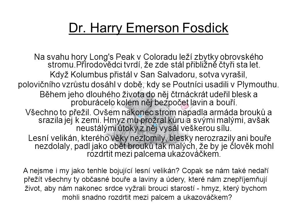 Dr. Harry Emerson Fosdick