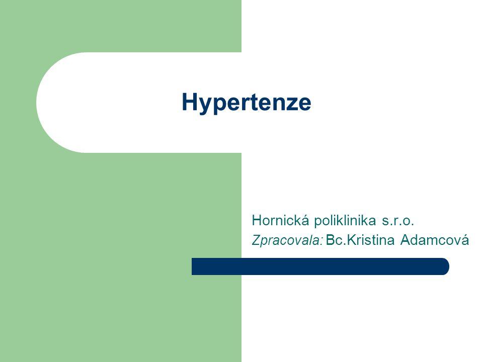 Hornická poliklinika s.r.o. Zpracovala: Bc.Kristina Adamcová