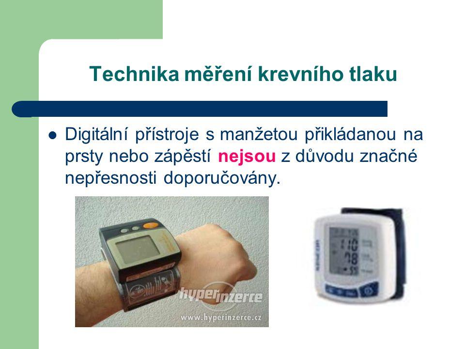 Technika měření krevního tlaku