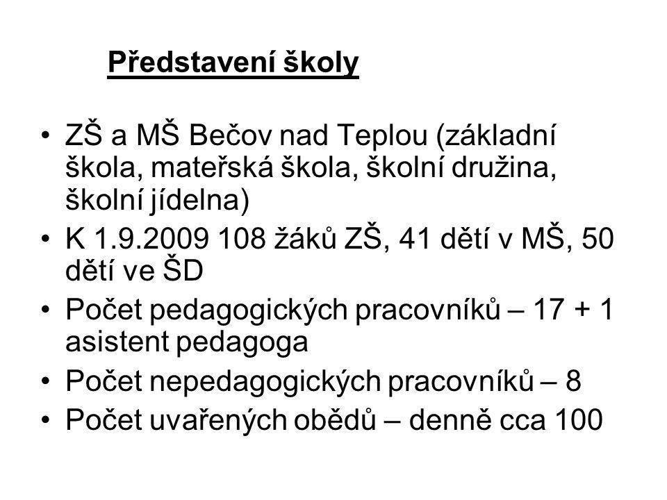 Představení školy ZŠ a MŠ Bečov nad Teplou (základní škola, mateřská škola, školní družina, školní jídelna)