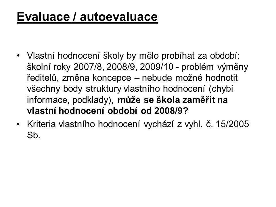 Evaluace / autoevaluace