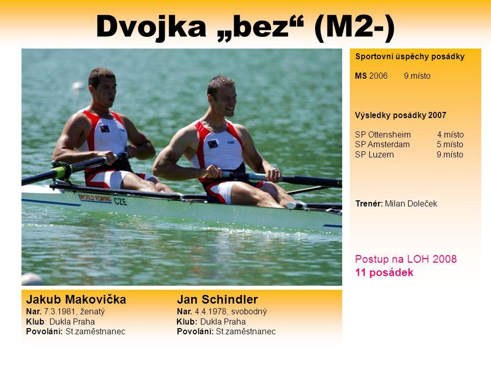 "Dvojka ""bez (M2-) Jakub Makovička Jan Schindler Postup na LOH 2008"