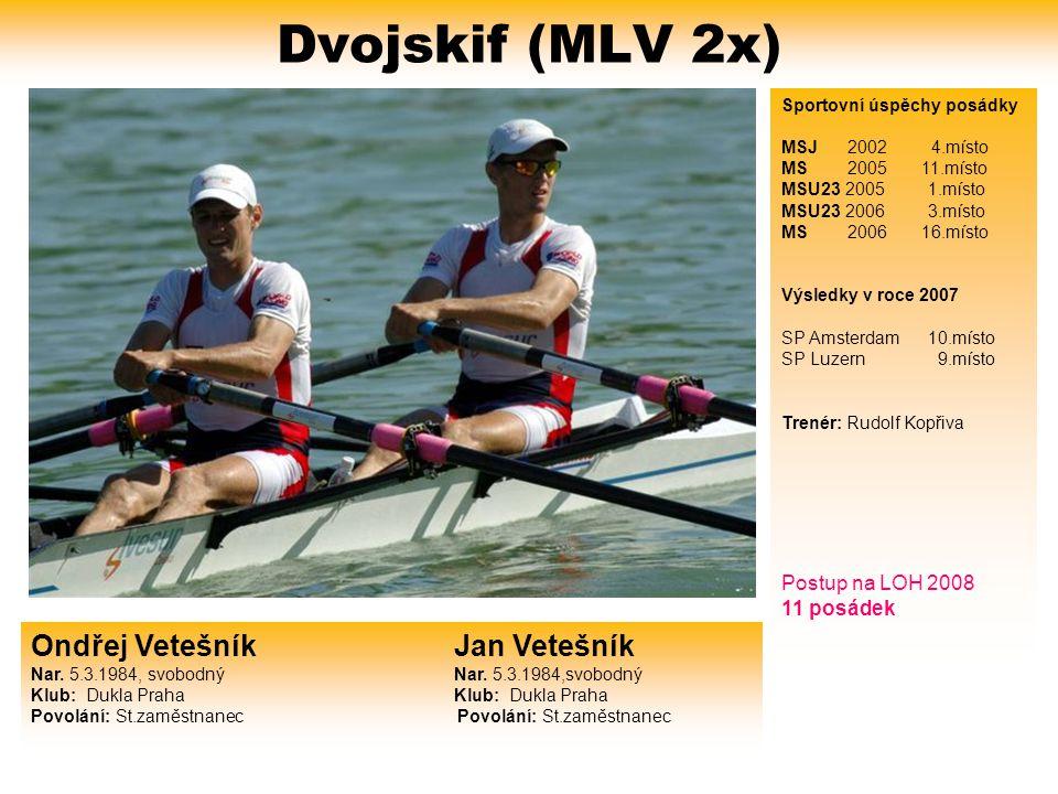 Dvojskif (MLV 2x) Sportovní úspěchy posádky. MSJ 2002 4.místo. MS 2005 11.místo.