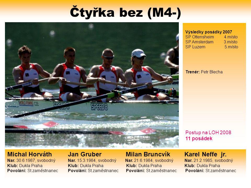 Čtyřka bez (M4-) Výsledky posádky 2007. SP Ottensheim 4.místo. SP Amsterdam 3.místo.