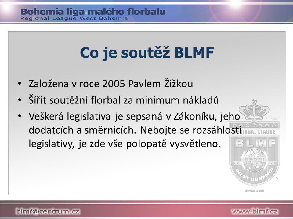 Co je soutěž BLMF Založena v roce 2005 Pavlem Žižkou
