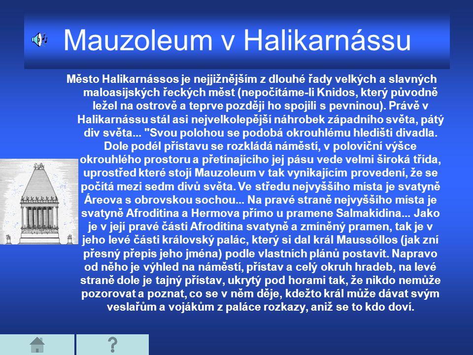 Mauzoleum v Halikarnássu