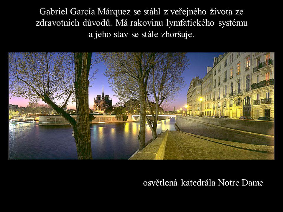 Gabriel García Márquez se stáhl z veřejného života ze zdravotních důvodů. Má rakovinu lymfatického systému a jeho stav se stále zhoršuje.