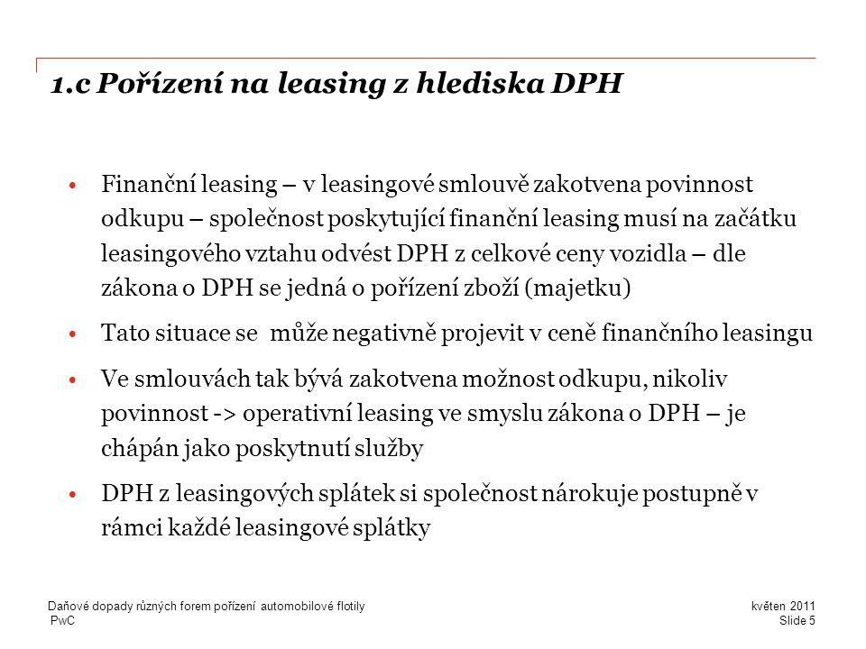 1.c Pořízení na leasing z hlediska DPH