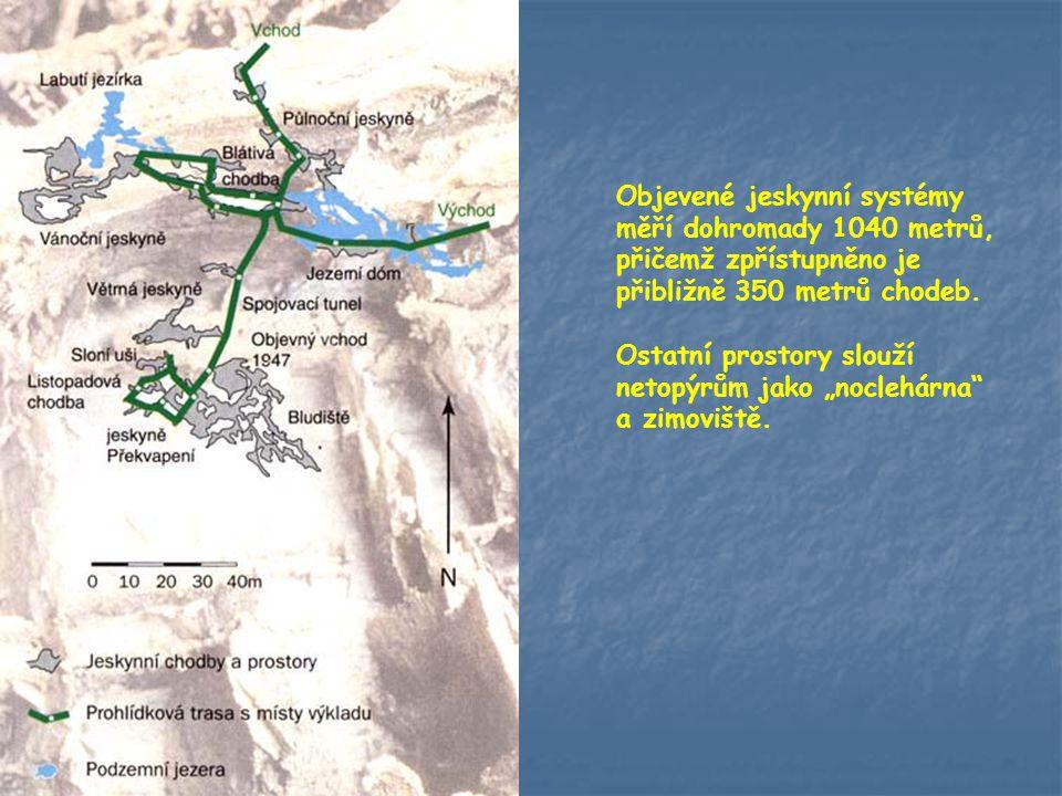 Objevené jeskynní systémy měří dohromady 1040 metrů, přičemž zpřístupněno je přibližně 350 metrů chodeb.